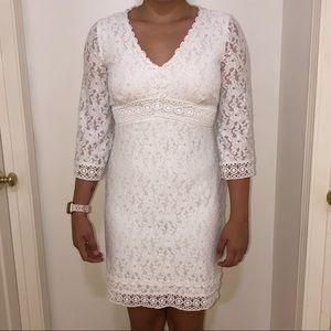 Laundry by Shelli Segal White Lace Dress Size 8